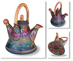 I think it's a teapot . Leatherwood Designs Australia
