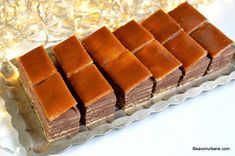 Prajitura Dobos reteta veche pas cu pas - Tort Dobos dreptunghiular | Savori Urbane Biscuits, Romanian Food, Something Sweet, Cake Cookies, Food Inspiration, Baked Goods, Cookie Recipes, Nom Nom, Dinner Recipes