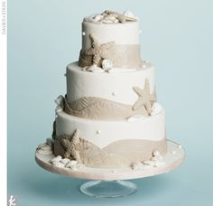Beach #Wedding #Cake by Made in Heaven Cakes