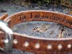 Hidden Message Leather Cuff