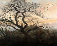 """Caspar David Friedrich """"Krähen auf einem Baum"""", 1822"""