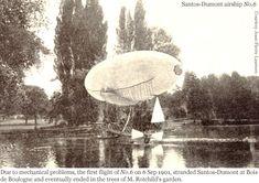 1901.09.06 - Santos Dumont - nº6 -BoisDeBoulogne Santos Dumond, Air Balloon, Balloons, Led Zeppelin, Airplane, Lighter, Planes, Fighter Jets, Transportation