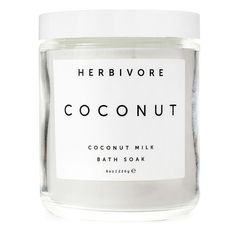 Herbivore Botanicals Coconut Soak ($18) ❤ liked on Polyvore featuring beauty products, bath & body products, body cleansers, beauty, fillers, makeup, white, bath & body care, no color and herbivore
