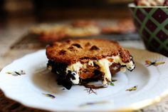 Malted Milk Chocolate Chip Ice   Cream Sandwich by thepioneerwoman: And yes, the cookies are supposed to be flat. Make half of them dark and half of them light. Variety is good! #Ice_Cream_Sandwich #Malted_Milk_Chocolate_Chip_Cookie #thepioneerwoman