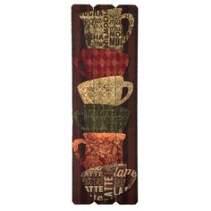 Find biggest selection of wall decor on clearance at At Home. See what makes us the home decor superstore! Coffee Wall Art, Moca, Chai, Decorative Items, Wall Decor, My Style, Design, Decorating, Easy