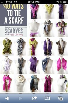 Styling Winter scarf