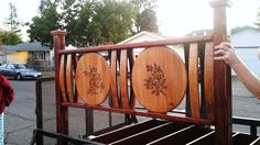 Barrel HeadBoard Wine Barrel Chairs, Wine Barrels, Bourbon Barrel Furniture, Barrel Projects, Pallet Wine, Wine Craft, Cool Furniture, Tree Furniture, Champagne