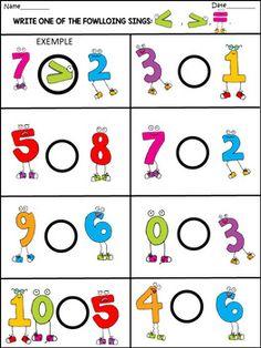 Spring - Math Fun Activities - 77 Pages - Education Kindergarten Math Worksheets, In Kindergarten, Preschool Learning Activities, Preschool Activities, Numbers Preschool, Math For Kids, Math Centers, Black White, Numicon