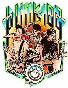 I want a shirt like this! Travis Barker, Cartoon Drawings, Art Drawings, Cyberpunk Anime, Tom Delonge, Band Wallpapers, Band Posters, Music Posters, Graffiti Painting