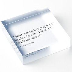 Decide My Self Motivational Quote Emma Acrylic Block by PineLemon