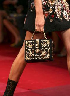 dolce & Gabbana spring 2015 handbags | ... Application Silk Brocade Box Bag, Dolce &Gabbana Spring Summer 2015