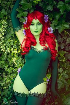 Dc Comics: Batman. Character: Poison Ivy. Cosplayer: Laura Salviani 'aka' Nikita 'aka' Tomoyochan. From: Nimes, Paris, France. Photo: Florian Fromentin, 2013.