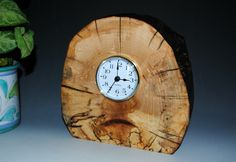 wood clock   Clock – Spalted Maple – Upcycled Wood Clock – Recycled Wood ...