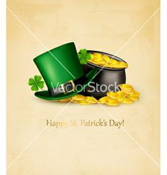Saint patricks day background with clover leaves vector by ecco on VectorStock®