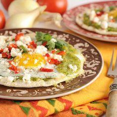 Summer Huevos Rancheros with Charred Zucchini Salsa Verde