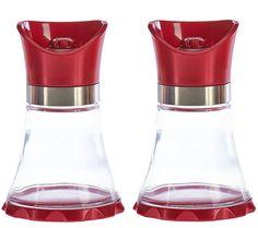 Kuhn Rikon S/2 Large Metallic Finish Glass Vase Grinders - Page 1 — QVC.com