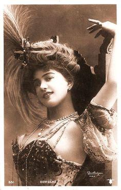 French Edwardian burlesque dancer, Arlette Dorgere.