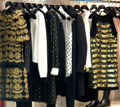 Festive sparkle in-store at Moschino. WGSN store shot, New York