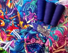 Pañuelos en proceso  by Fly Design Studio