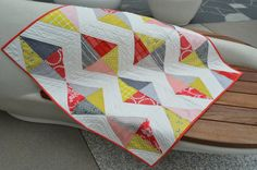 Kite Tails Quilt by Latifah Saafir. half rectangle triangle tute for jenib's triangle quilt
