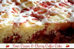 Mommy's Kitchen - Recipes From my Texas Kitchen: Sour Cream & Cherry Coffee Cake Cake Mix Recipes, Baking Recipes, Dessert Recipes, Kitchen Recipes, Dessert Ideas, Bread Recipes, Cupcakes, Cupcake Cakes, How To Make Cake