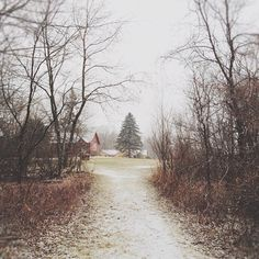 Country lane in early winter Country Life, Country Roads, Country Barns, Country Living, Beautiful World, Beautiful Places, Take Me Home, My New Room, Farm Life