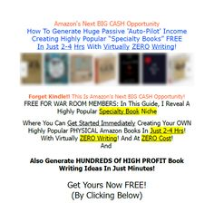 """[FREE WSO!] Create Popular Amazon """"Specialty Books"""" FREE With Virtually ZERO Writing! (NOT Kindle) Warrior Forum Classified Ads"""
