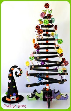 Halloween Lollipop Tree