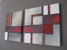 2010/01 Abstract Canvas Art, Mixed Media Art, Quilts, Blanket, Inspiring Art, Canvases, Drawings, Creative, House Ideas