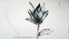 Another creative flower drawings. This simple drawing of a flower was created using different line strokes. If you want to darken any part of the object, create more lines into it using dots or cross-hatching techniques. Cool Easy Drawings, Different Lines, Flower Drawings, Cross Hatching, Dots, Sketches, Ink, Create, Simple