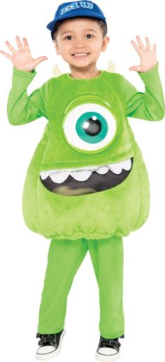 Toddler Boys Mike Costume - Monsters University - Party City