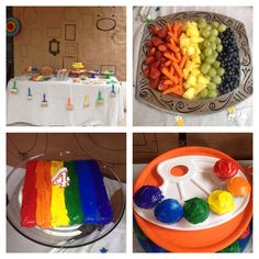 Wee Warhols Art Birthday Party Rainbow