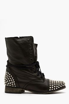 Studded Combat Boots.  I Would Wear These All Summer.