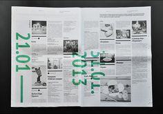 Gorky Park Newspaper in retrospect showcasing issues during the year of 2013