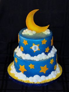 Twinkle, Twinkle Little Star Cake - by CuteologyCakes @ CakesDecor.com - cake decorating website