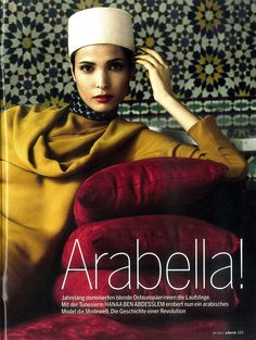 Extraordinary Tunisian beauty......Moroccan tiles backdrop round out this photo; elegant modern ethnic!