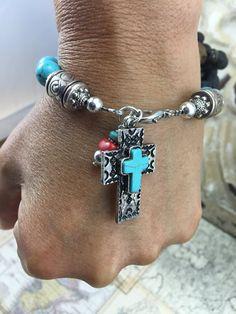 Western Cross Bracelet Southwestern Cross by JustSouthOfUrban