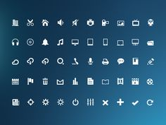 Free Glyphs Icons 1