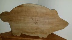 Pig Cutting/Bread BOARD-Primitive Farmhouse Kitchen-Hand Carved Folk Art- #NaivePrimitive #Unknown