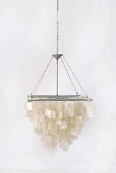 Worlds Away Capiz Shell Square Chandelier with Silver Leaf Finish. Capiz Shell Chandelier, Square Chandelier, Crystal Chandeliers, Mini Pendant Lights, Pendant Lighting, Light Pendant, My Pool, Contemporary Chandelier, Home Decor Accessories