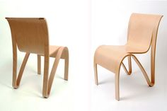 New York-based Lerival have created the Kulms Chair 02.1 CUT, from molded plywood.