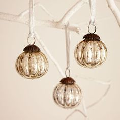 Antique Effect Glass Christmas Bauble