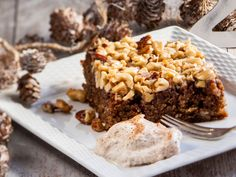 Walnut Cake, Christmas Baking, Food And Drink, Pie, Meat, Cooking, Desserts, Recipes, Mascarpone