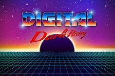 New retro wave landscape by Swillklitch on @creativemarket
