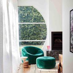 LIGNE ROSET: Create a soft haven for sunlit lounging . Furniture Styles, Unique Furniture, Furniture Design, Chelsea, Purple Sofa, Melbourne House, Luxury Furniture Brands, Ligne Roset, Mid Century House