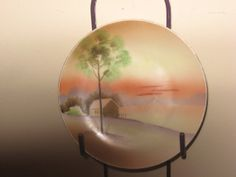 Vintage Japan Hand Painted 6 inch Plate. Sunset by SerrinDipitous, $8.00