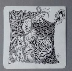 To share and discuss Zentangles..