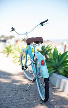 Beautiful sky blue bicycle... California.
