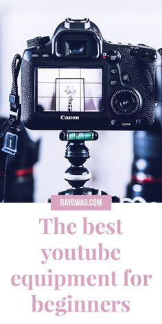 The best youtube equipment for beginners. Starting with youtube can be very easy and basic if you know what the basics for filming are. Click the Pin to learn more about them. | Youtube for beginners | How to youtube | How to start a youtube channel | filming equipment for beginners