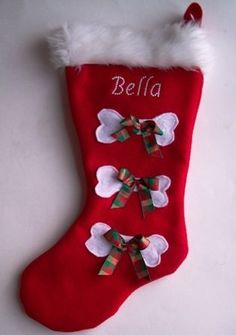 dog personalized christmas stockings a pair from miascloset for 26